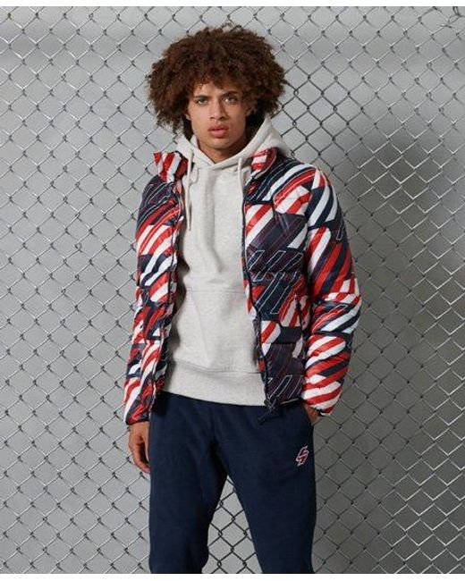 Superdry Blue Sportstyle Puffer Jacket for men