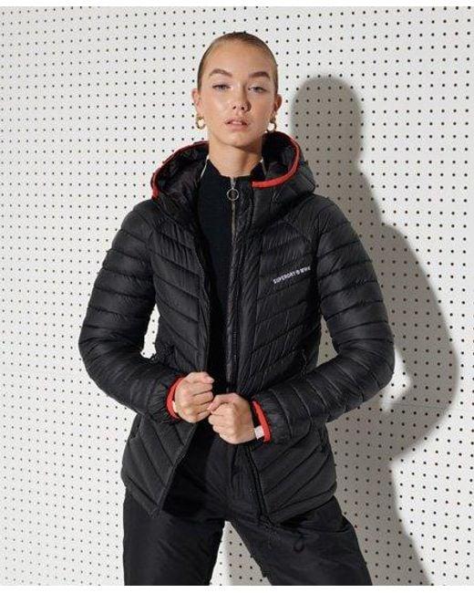Superdry Black Sport Alpine Padded Mid Layer Jacket