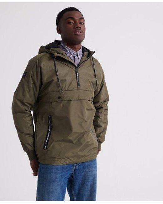 Superdry Green Surplus Goods Pop Over Hood Jacket for men