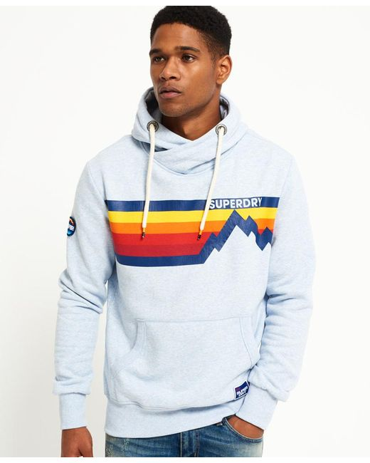 Superdry | Blue Mountain Line Hoodie for Men | Lyst