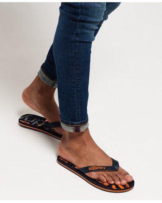 Superdry Mens Sandals//Flip Flops /'Scuba Camo/'