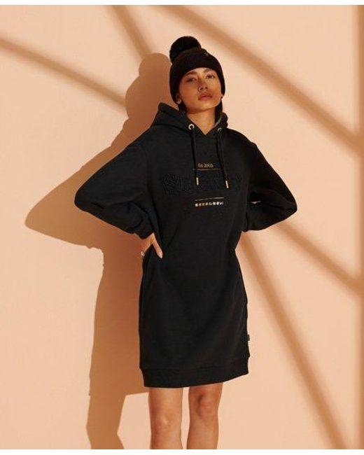 Superdry Black Established Sweat Dress