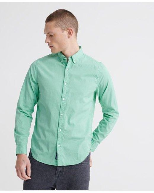 Superdry Multicolor Classic Twill Lite Long Sleeve Shirt for men