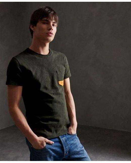 Superdry Green Surplus Goods Classic Pocket T-shirt for men