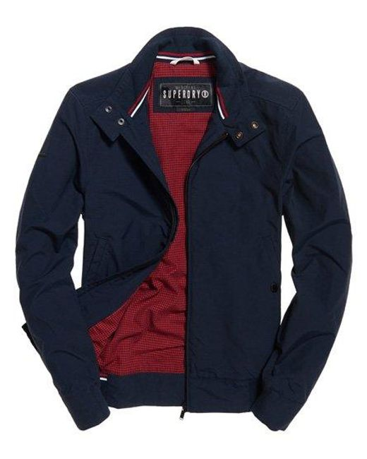 Superdry Blue Montauk Harrington Jacket for men