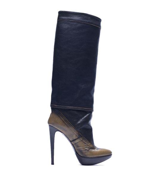 A.F.Vandevorst Blue Knee High Heeled Boots