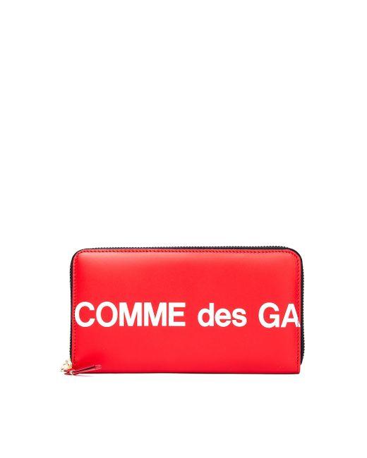 Кожаный Кошелек На Молнии Comme des Garçons для него, цвет: Red