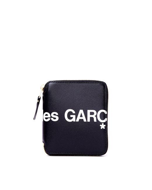 Черный Кожаный Кошелек С Логотипом Comme des Garçons для него, цвет: Black
