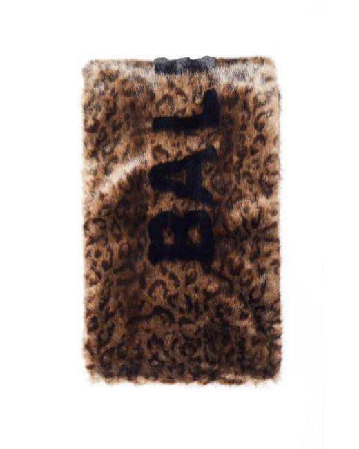 Шарф Из Эко-меха С Леопардовым Принтом Balenciaga, цвет: Brown