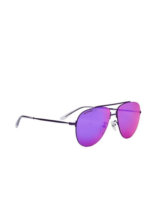 Фиолетовые Очки Invisible Aviator Balenciaga для него, цвет: Purple