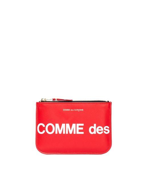 Красный Кожаный Кошелек С Логотипом Comme des Garçons, цвет: Red