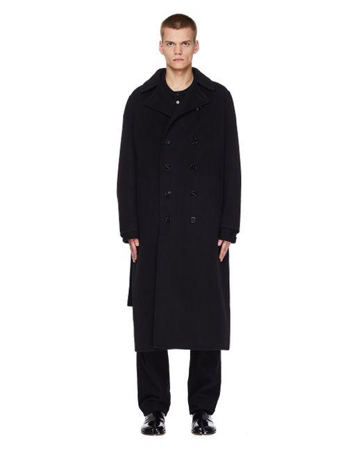 Черное Кашемировое Пальто С Поясом Jil Sander для него, цвет: Black