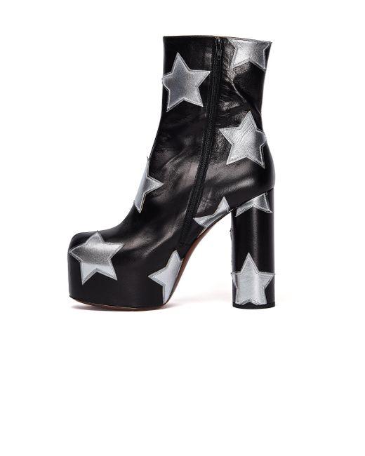 Кожаные Ботильоны Star С Аппликацией Vetements, цвет: Black