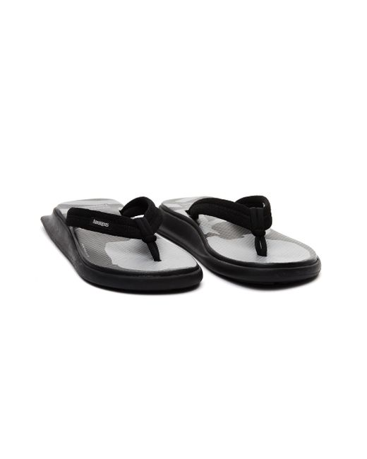 MASTERMIND WORLD Black Tradi Zori Printed Sandal for men