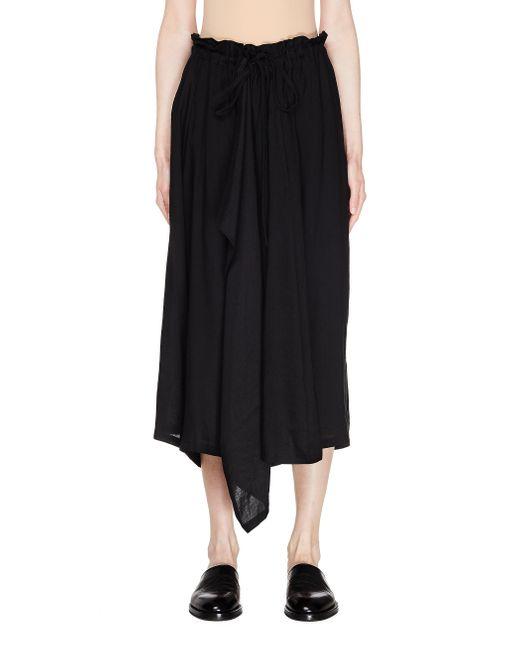 Укороченные Широкие Брюки Y's Yohji Yamamoto, цвет: Black