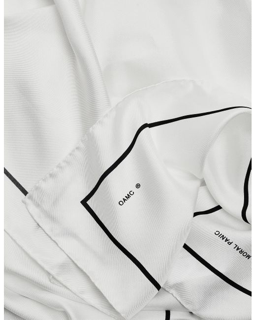 Белый Шелковый Платок Frame Foulard OAMC для него, цвет: White