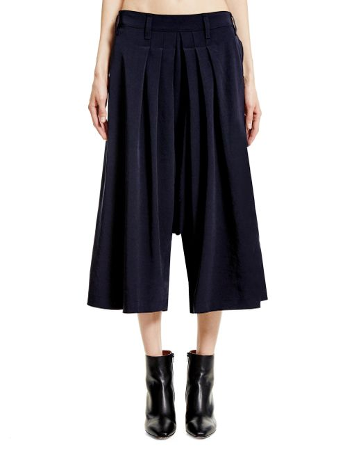 Y's Yohji Yamamoto - Blue Triacetate And Polyester Trousers - Lyst