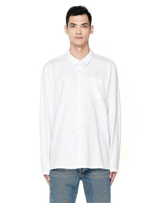 Хлопковая Рубашка С Карманом James Perse для него, цвет: White