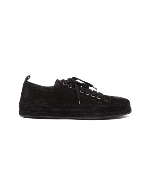 Ann Demeulemeester - Black Low-top Suede Sneakers for Men - Lyst