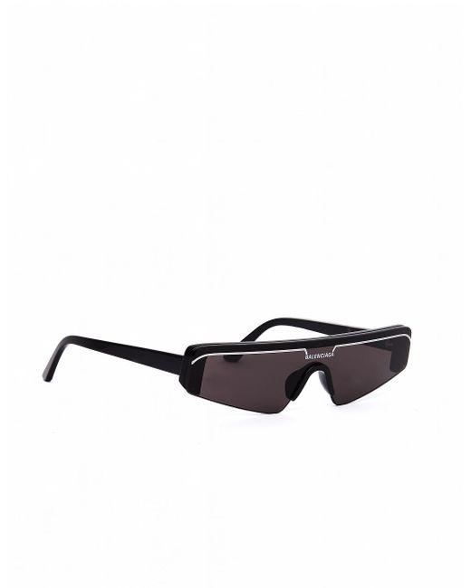 Черные Очки Ski Rectangle Balenciaga для него, цвет: Black