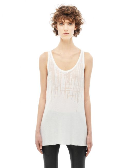 Maison Margiela | White Cotton And Polyester Tank Top | Lyst