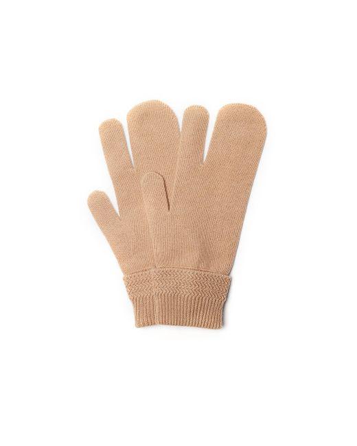 Бежевые Перчатки Из Шерсти И Кашемира Maison Margiela, цвет: Natural