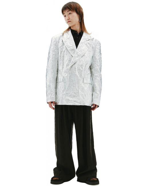 Серебристый Пиджак Comme des Garçons для него, цвет: Metallic