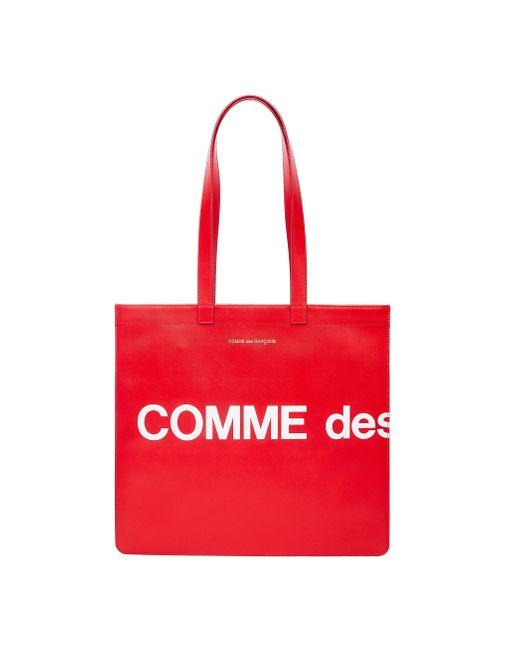 Красная Кожаная Сумка С Логотипом Comme des Garçons для него, цвет: Red