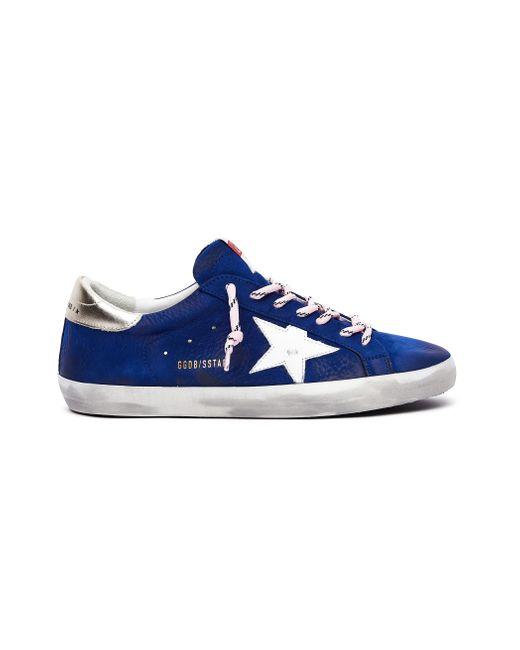 Кеды Superstar С Розовыми Шнурками Golden Goose Deluxe Brand для него, цвет: Blue