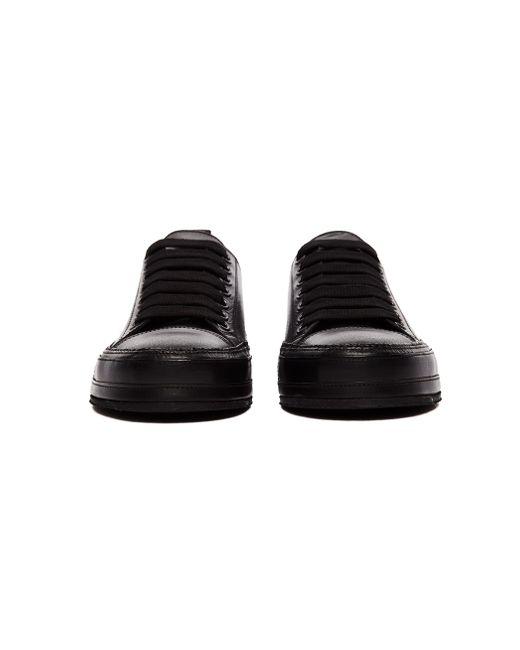 Классические Черные Кеды Из Кожи Ann Demeulemeester, цвет: Black