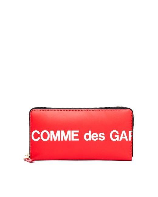 Красный Кожаный Кошелек С Круговой Молнией Comme des Garçons для него, цвет: Red