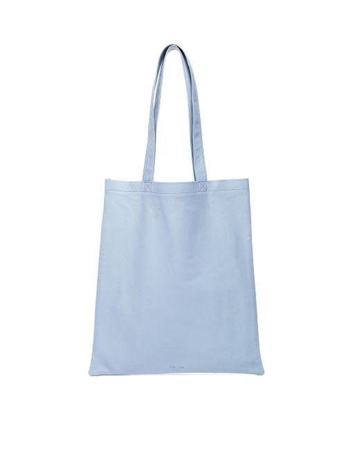 Голубая Кожаная Сумка Ultra Soft Tote Isaac Reina для него, цвет: Blue
