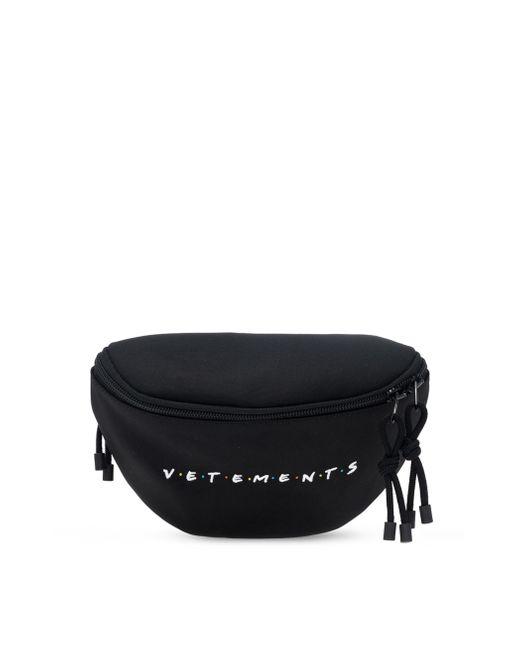 Поясная Сумка С Вышитым Логотипом Vetements, цвет: Black