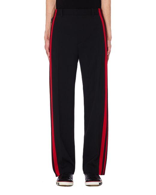 Брюки С Красными Лампасами Balenciaga для него, цвет: Black