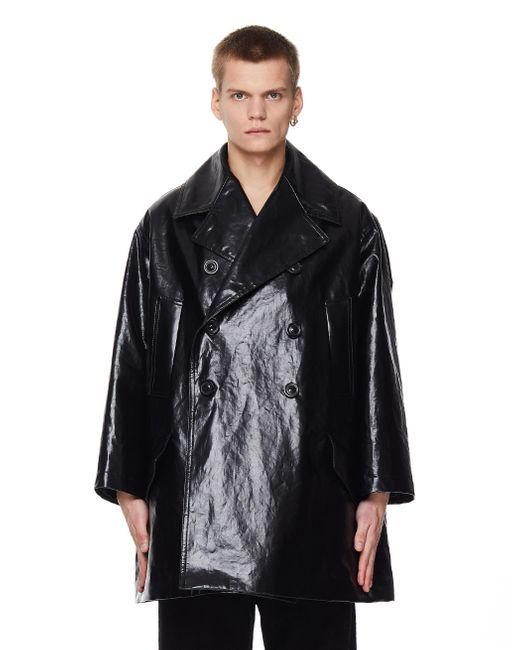 Черный Плащ Из Искусственной Кожи Maison Margiela для него, цвет: Black