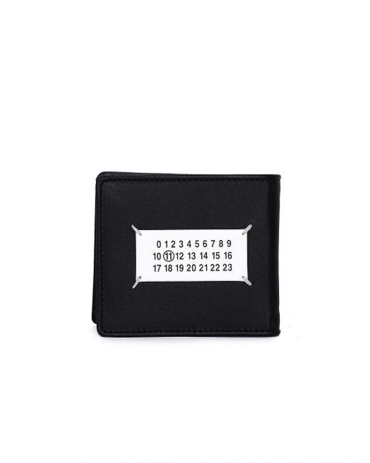 Черный Кожаный Кошелек Glam Slam Maison Margiela для него, цвет: Black