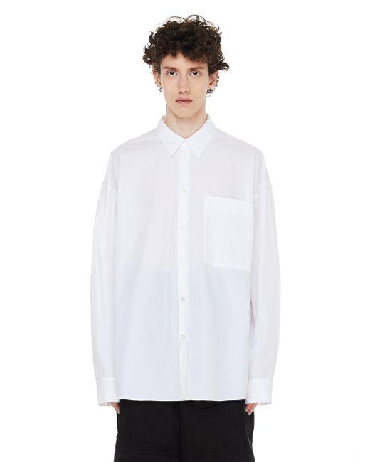 Белая Рубашка С Нагрудным Карманом Ann Demeulemeester для него, цвет: White