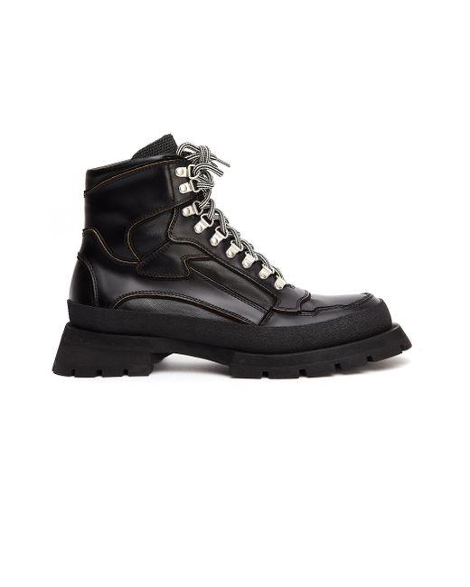 Черные Ботинки На Массивной Подошве Jil Sander для него, цвет: Black