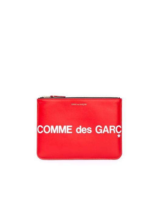 Красный Кожаный Кошелек С Молнией Comme des Garçons для него, цвет: Red