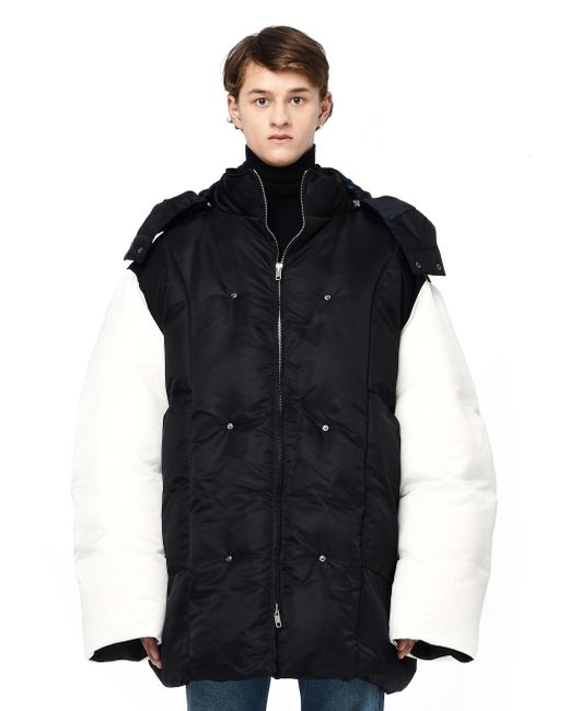 Raf Simons - Black Oversized Puffer Jacket for Men - Lyst