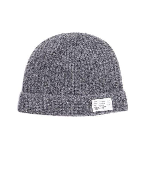 Visvim Gray Grey Patched Beanie for men