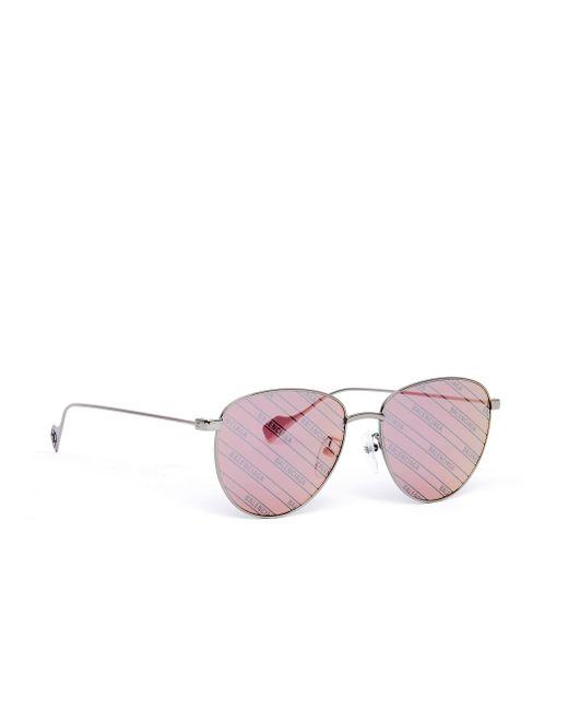 Очки Invisible С Зеркальными Стеклами Balenciaga, цвет: Multicolor