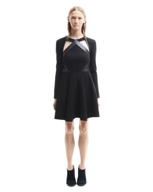 David Koma - Cut Out Black Midi Dress - Lyst