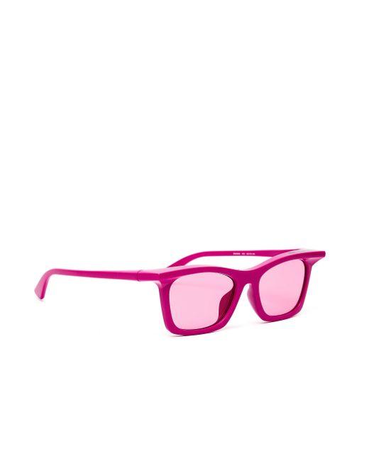 Розовые Очки Rim Rectangle Balenciaga, цвет: Pink