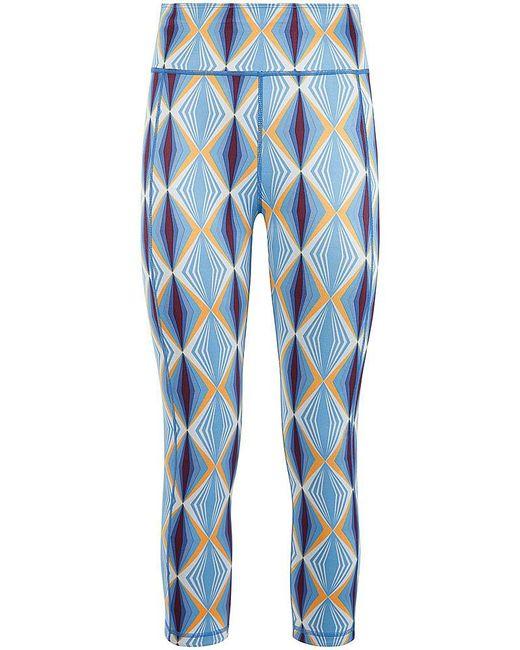 Sweaty Betty - Blue Reversible Crop Yoga Leggings - Lyst