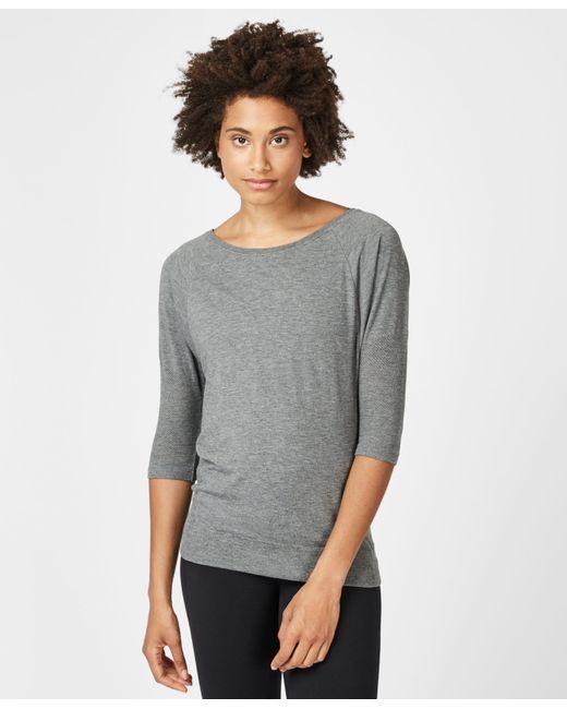 Sweaty Betty Gray Dharana Short Sleeve Yoga T-shirt