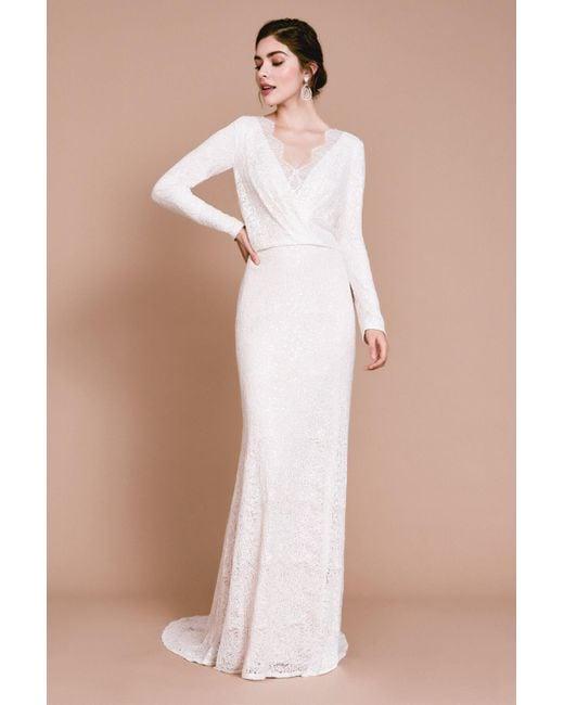 Tadashi Shoji Multicolor Renie Blouson Sleeve Gown