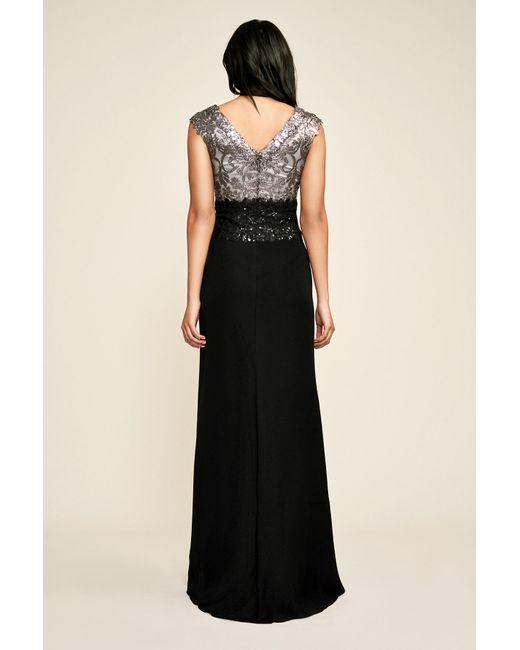 ... f4cc1 70da5 ... Tadashi Shoji - Black Rema Gown - Petite - Lyst . da4d758eaa40