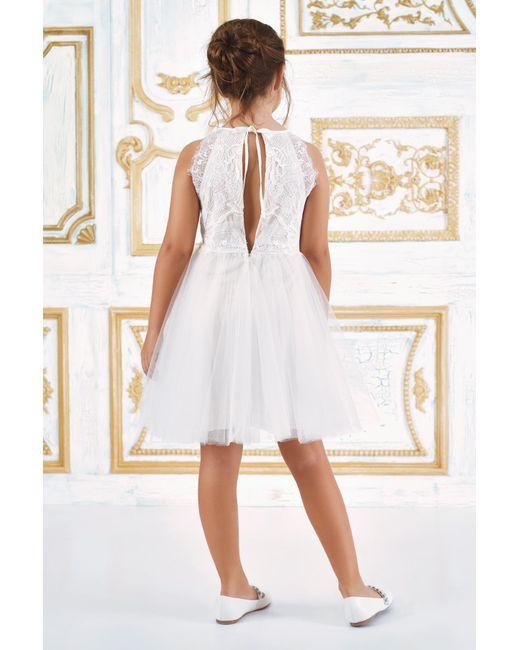 2ddebecad2d ... Tadashi Shoji - White Misty Tulle Dress - Lyst ...