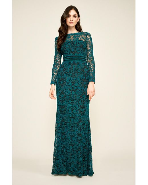 Lyst - Tadashi Shoji Beckett Lace Gown in Green